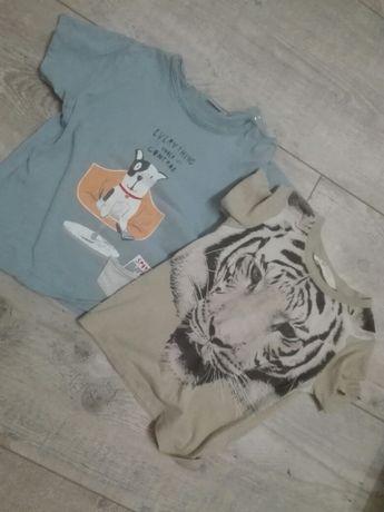 Bluzki T-shirty koszulki chłopięce 92 zara h&m