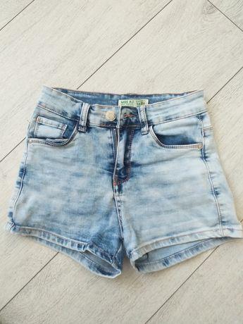 Krótkie spodenki jeansowe rozm.34