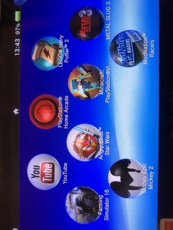 PS Vita 1004 3G/WiFi super stan! 8 gier 64Gb Minecraft Rayman Little