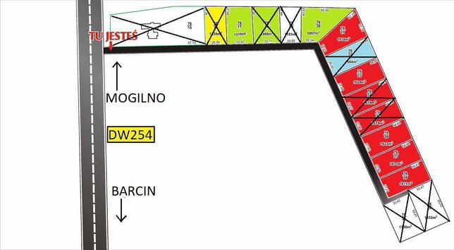 Działka budowlana Wolice - Barcin