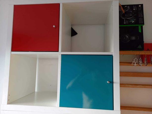 Regał Ikea Kallax + wkłady i szuflady