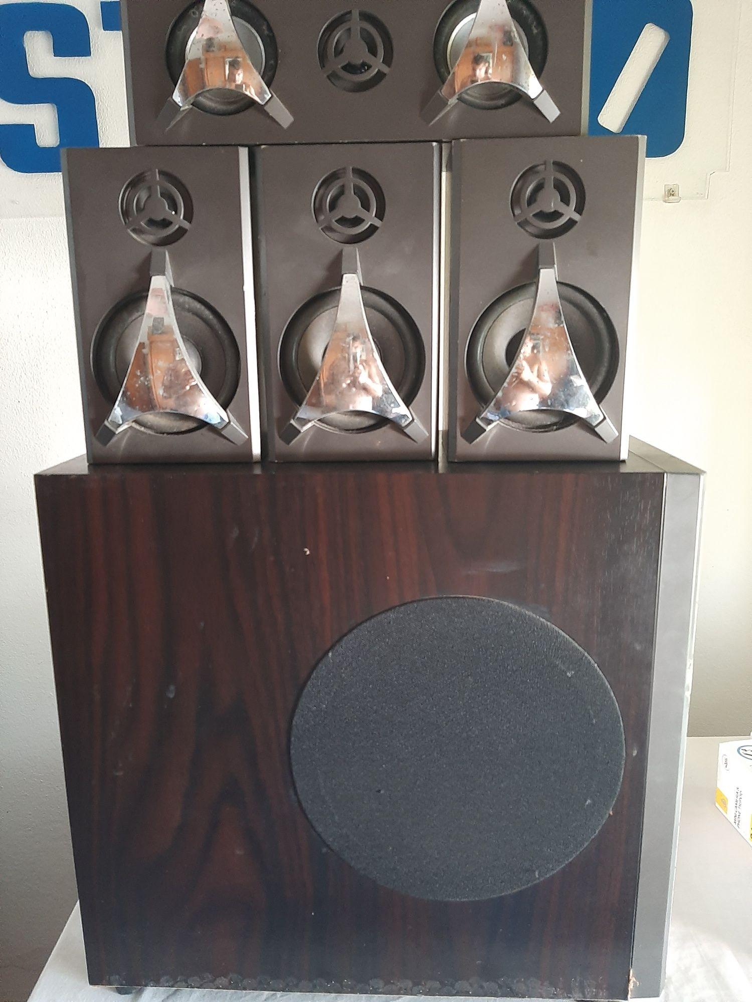 Colunas audio 3 Monitores + Subwoofer