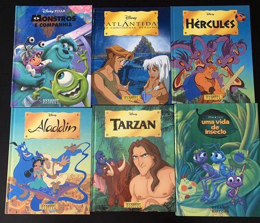 6 Livros Disney Pixar NOVOS Capa dura