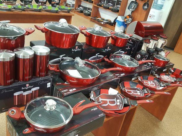 Garnki czerwone zestaw BERLINGER HAUS 15EL MIEDZIANE sklep AGD Wawa