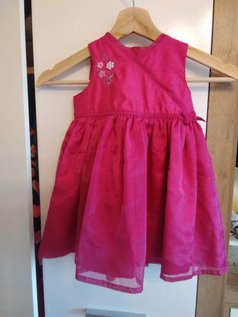 Sukienka wizytowa M&S elegancka r.12-18 mies