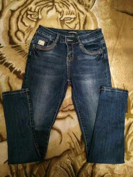Продам синие джинсы скинни