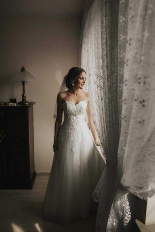 Suknia ślubna rozm. 34 XS Isadora ecru Okazja !