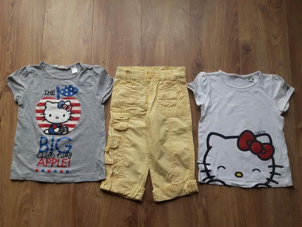 Zestaw koszulki H&M Hello Kitty spodnie Levi's 122-128