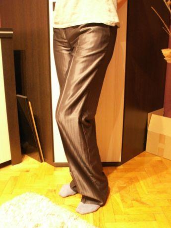Spodnie w kant, wieczorowe, błyszczące, MONNARI, rozm. 40