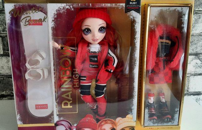 Кукла лялька Рейнбоу зима Rainbow High Winter Break Руби Андерсон