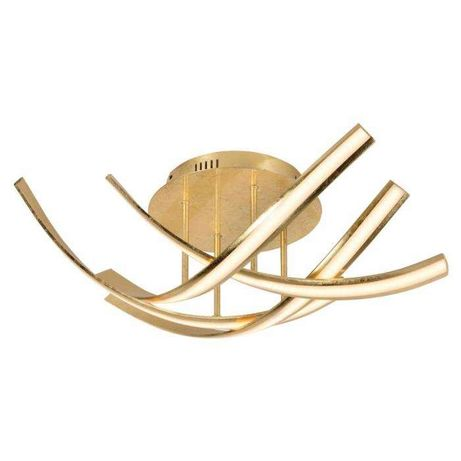 Elegancka lampa sufitowa żyrandol złoty LED Linda Paul Neuhaus 6474-12