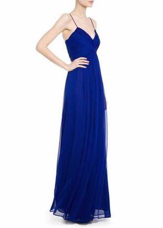 Sukienka MANGO maxi, NOWA, na ramiączkach, kobaltowa, długa, XS-34