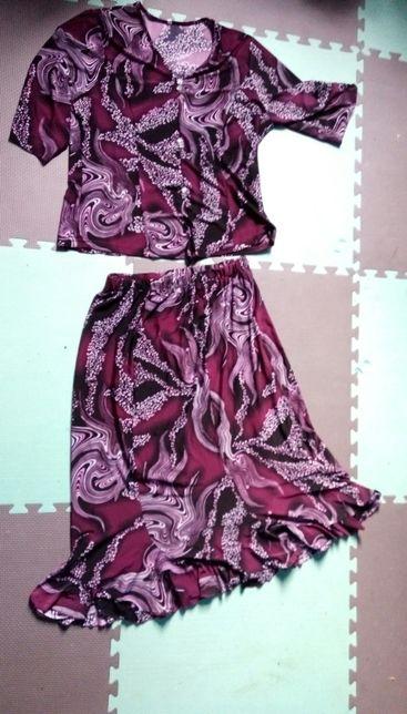 Komplet spódnica i bluzka damska zestaw