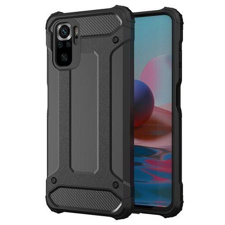 Capa Rígida/Semi Rígida Traseira Hybrid Case Tough Rugged Cover Xiaomi Redmi Note 10 Pro Preto