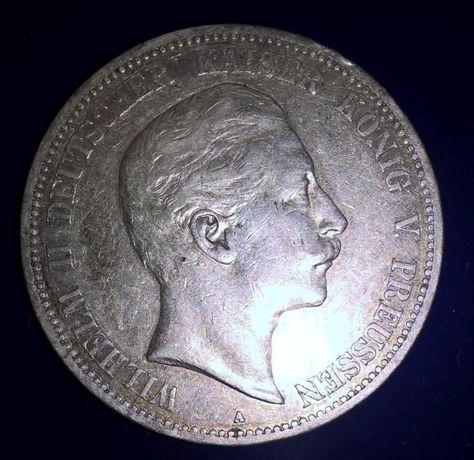 Монета 5 марок 1903