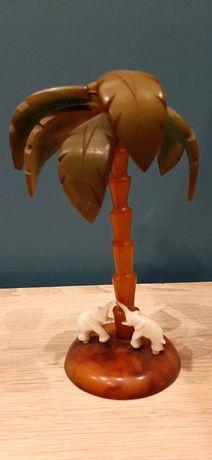 Figurka palma z 2 slonikami