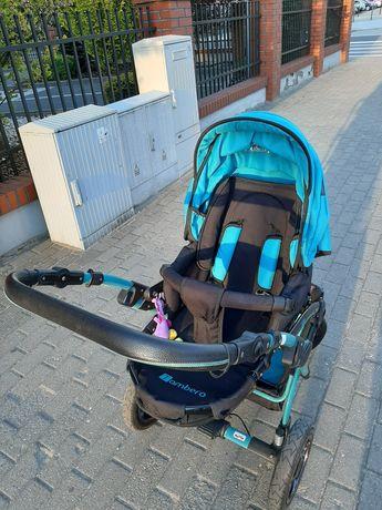 Wózek 3w1 gondola, spacerówka, fotelik samochodowy