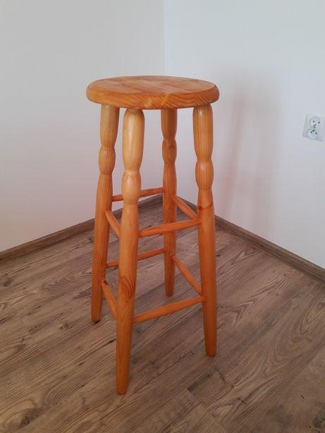 Stołek barowy drewniany, krzesło barowe