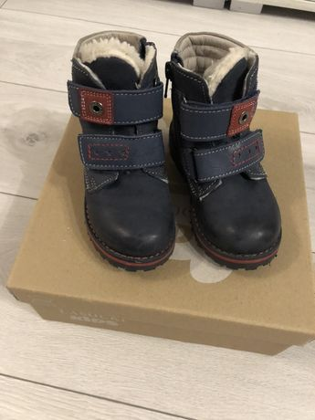 Kozaki zimowe chłopięce buty zimowe skórzane lasocki kids r. 24
