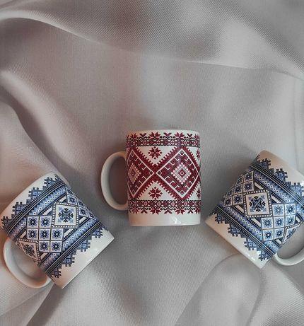 Чашки вышиванки,керамика