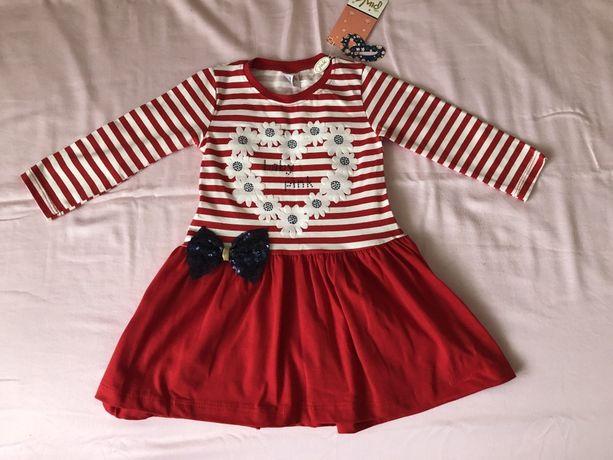 Платье новое 92/98 (маломерит подойдет на 86/92)