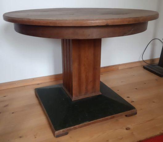 Drewniany stół, antyk średnica 90 cm