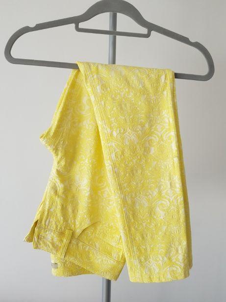 Koronkowe spodnie MONNARI żółte nowe w kwiaty