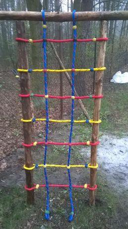 place zabaw siatka do wspinaczki wspinaczkowa 0,75X2 lina 16mm małpi