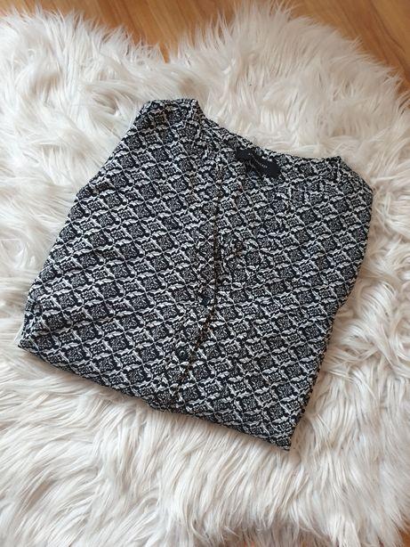 Bluzka czarno biała wzór Atmosphere rozmiar 42/XL