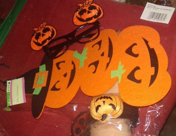 Halloween игровые очки без стекол тыква хеллоуин браслет и фетр декорр