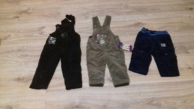 Spodnie chłopięce, dla chłopca struksowe ocieplane 68,74