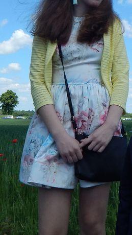 Sukienka 34 XS kwiaty