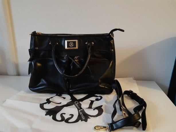 Czarno-złota torba kuferek Christian Lacroix