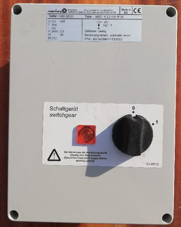 Przekaźnik ochrony termicznej Rosenberg MSD1 K 2,5kW IP54