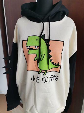 Anime nowa bluza kawaii r XL pastel japoński