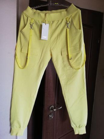 Spodnie dresowe Megi L-XL żółte