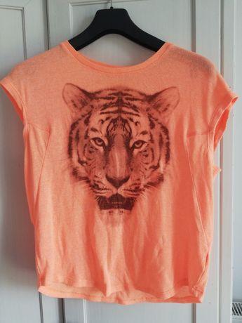 Zara bluzka koszulka thishert roz. S M 36 38