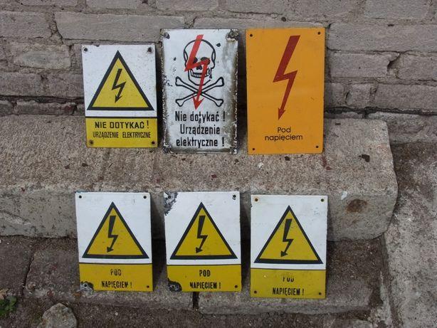 Tabliczki ostrzegawcze okres PRL