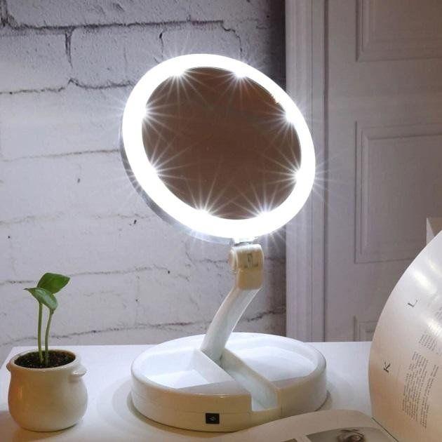 Зеркало для макияжа с подсветкой My Fold Away Mirror белый.! Днепр - изображение 1