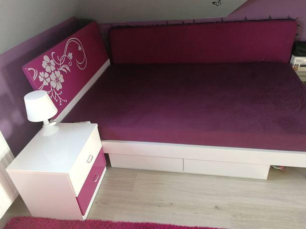 Meble lakierowane młodzieżowe (komplet: biurko, szafa, łóżko, +2)