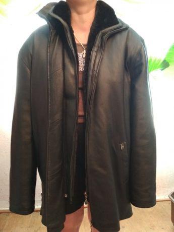 Зимняя куртка Sun's 4XL утепленная кожа качество