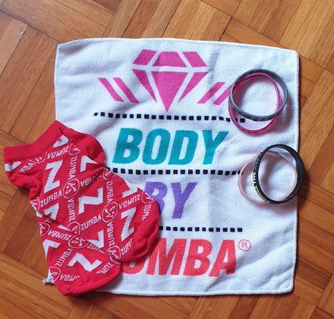 Conjunto de Toalha, meias e pulseiras Zumba