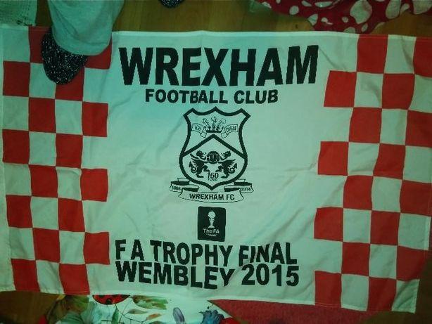 флаг футбол WREXHAM WEMBLEY 2015 британия спорт финал размер 0.61на1м