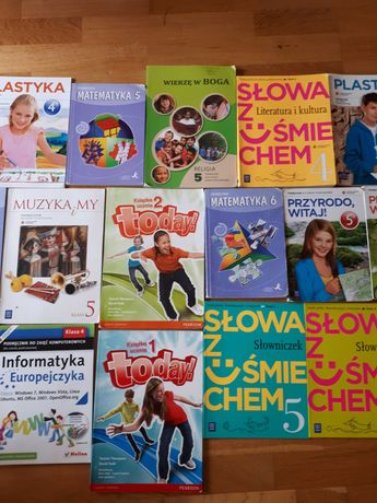Podręczniki do szkoły podstawowej klasa 4 5 6 po 5 zł okazja.
