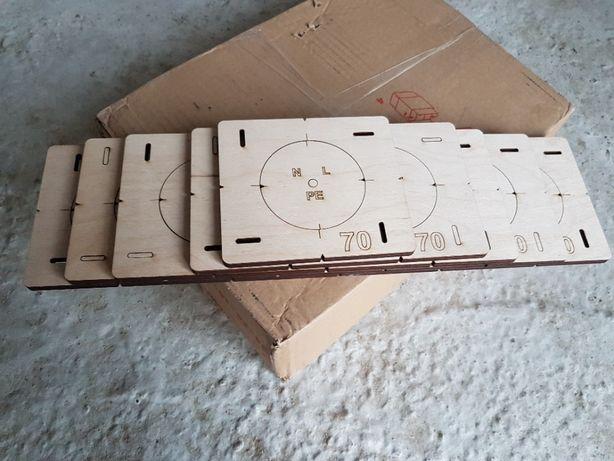 Набор Шаблонов 1-5, Кондукторы для сверления подрозетников, 70 диаметр