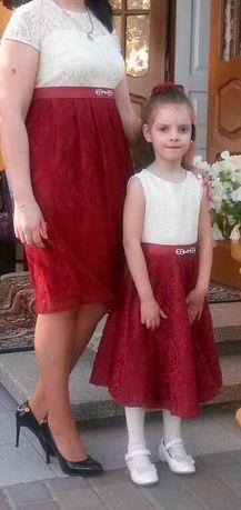 Плаття для мами і дочки (фемелі лук)платье