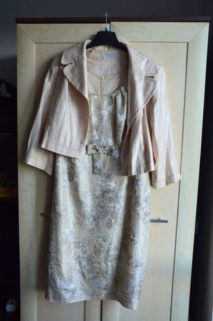 Śliczna sukienka z żakietem w rozmiarze 44! Nowa!