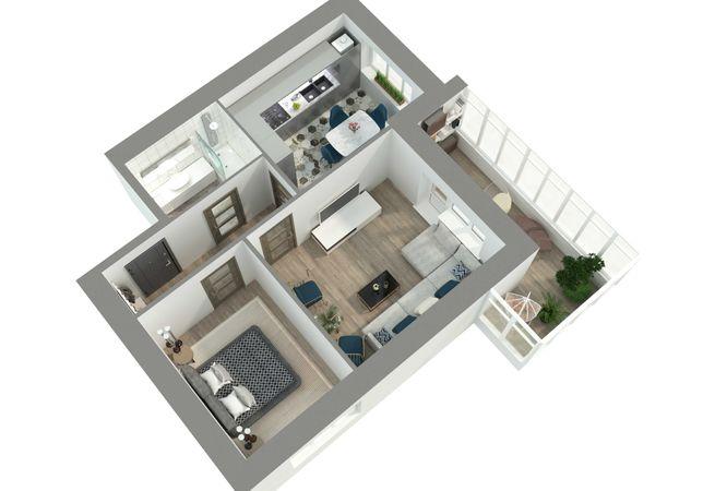 Продам двокімнатну квартиру. ЖК «Київський» 59,4кв.м. 2-га черга