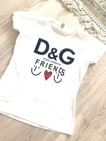 Белая футболка в стиле D&G dolce & gabbana