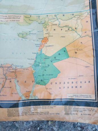 Политическая карта мира 1979 н.,хорошее состояние